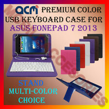 """ACM-USB COLOR KEYBOARD 7"""" CASE for ASUS FONEPAD 7 2013 TAB LEATHER COVER STAND"""
