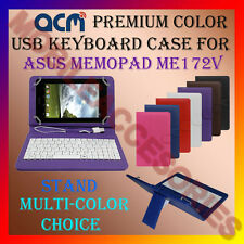 "ACM-USB COLOR KEYBOARD 7"" CASE for ASUS MEMO PAD ME172V TAB LEATHER COVER STAND"