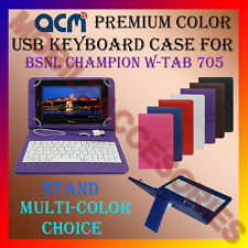 "ACM-USB COLOR KEYBOARD 7"" CASE for BSNL CHAMPION WTAB 705 LEATHER COVER STAND"