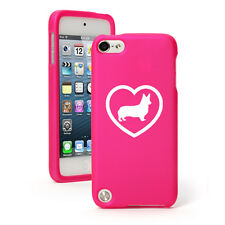 For Apple iPod Touch 4th 5th 6th Rubber Hard Case Cover Corgi Heart