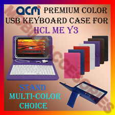 "ACM-USB COLOR KEYBOARD 7"" CASE for HCL ME Y3 TABLET LEATHER COVER STAND FLIP TAB"
