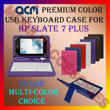 "ACM-USB COLOR KEYBOARD 7"" CASE for HP SLATE 7 PLUS TABLET LEATHER COVER STAND"