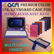 "ACM-USB COLOR KEYBOARD 7"" CASE for IBERRY AUXUS AX01 AX-01 LEATHER COVER STAND"