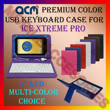 "ACM-USB COLOR KEYBOARD 7"" CASE for ICE XTREME PRO TABLET LEATHER COVER STAND TAB"
