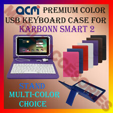"ACM-USB COLOR KEYBOARD 7"" CASE for KARBONN SMART 2 TABLET  LEATHER COVER STAND"