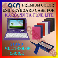 "ACM-USB COLOR KEYBOARD 7"" CASE for KARBONN TA-FONE LITE TAB LEATHER COVER STAND"