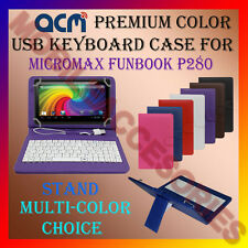 "ACM-USB COLOR KEYBOARD 7"" CASE for MICROMAX FUNBOOK P280 TAB LEATHER COVER STAND"