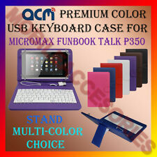 "ACM-USB COLOR KEYBOARD 7"" CASE for MICROMAX TALK P350 TAB  LEATHER COVER STAND"