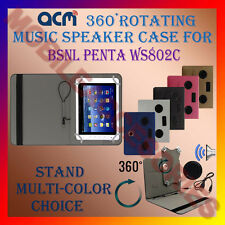 "ACM-PORTABLE MUSIC SPEAKER 360° ROTATING 8"" CASE for BSNL PENTA WS802C TAB COVER"