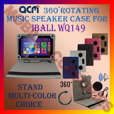 """ACM-PORTABLE MUSIC SPEAKER 360° ROTATING 10"""" CASE for IBALL WQ149 TABLET COVER"""