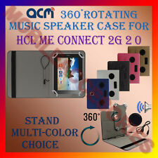 "ACM-PORTABLE MUSIC SPEAKER 360° ROTATING 7"" CASE for HCL ME CONNECT 2G 2.0 TAB"