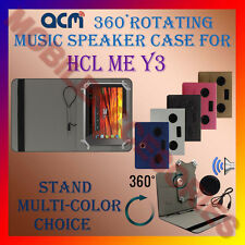 "ACM-PORTABLE MUSIC SPEAKER 360° ROTATING 7"" CASE for HCL ME Y3 TABLET COVER TAB"