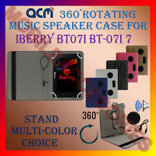 "ACM-PORTABLE MUSIC SPEAKER 360° ROTATING 7"" CASE for IBERRY BT07I 7"" BT-07I7 TAB"
