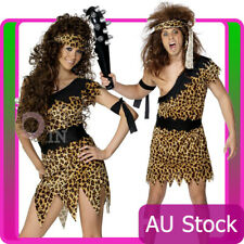 W307 Cavewoman Jungle Tarzan Cave Women Adult Brown Costume Wig Headband Set