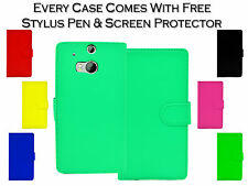 New Magnetic Wallet Flip Book Card Holder Pu Leather Case Cover For HTC One M8s