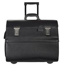 Leonhard Heyden Hamburg Businesstrolley Leder 45 cm Laptopfach