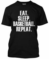 Eat Sleep Basketball Repeat T Shirt - Player Gift All Colours Tee Mens