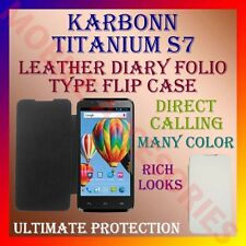 ACM-LEATHER DIARY FOLIO FLIP FLAP CASE for KARBONN TITANIUM S7 MOBILE FULL COVER