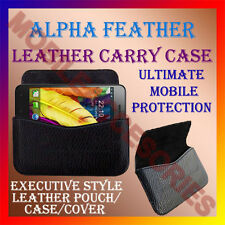 ACM-HORIZONTAL LEATHER CARRY CASE for ALPHA FEATHER MOBILE POUCH COVER HOLDER