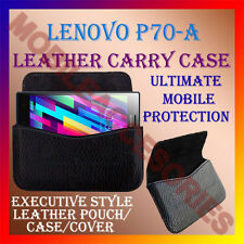 ACM-HORIZONTAL LEATHER CARRY CASE for LENOVO P70-A MOBILE POUCH COVER HOLDER