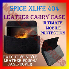ACM-HORIZONTAL LEATHER CARRY CASE for SPICE XLIFE 404 MOBILE POUCH COVER HOLDER