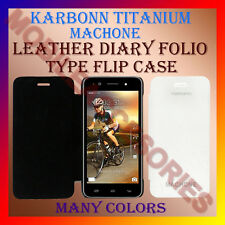 ACM-LEATHER DIARY FOLIO FLIP FLAP CASE of KARBONN TITANIUM MACHONE MOBILE COVER