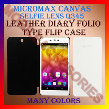 ACM-LEATHER DIARY FOLIO FLIP CASE for MICROMAX SELFIE LENS Q345 MOBILE COVER NEW