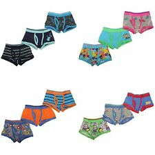 Childrens/Kids Boys Trunk Fit Boxer Shorts Underwear (Pack Of 3)
