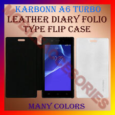 ACM-LEATHER DIARY FOLIO FLIP FLAP CASE for KARBONN A6 TURBO MOBILE FULL COVER