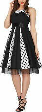BlackButterfly 'Ivy' 50's Polka Dot 50's Vintage Swing Prom Evening Dress