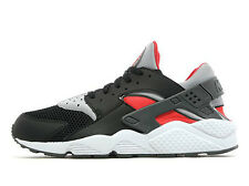 Exclusivo Nike Air Huarache Negro Red& Gris Frío Todas Las Tallas