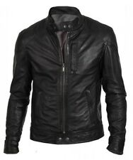 Gordania Stylish Slim Fit Biker Leather Motorcycle High Quality Jacket Men GD275