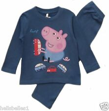 "BOY'S FULLY LICENCE ""PEPPA PIG'S GEORGE""PJ/PYJAMA SET 2 3 4 5 6 7 8Y"