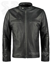 Soul Revolver Leather Jacket - Cafe Racer Motorcycle Jacket