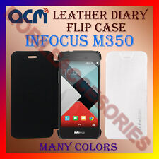 ACM-LEATHER DIARY FOLIO FLIP FLAP CASE for INFOCUS M350 MOBILE FRONT/BACK COVER
