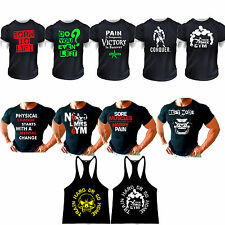 MMA GYM  BODYBUILDING  T-Shirt  weight WORKOUT  top  CLOTHING SPORT fighting ufc