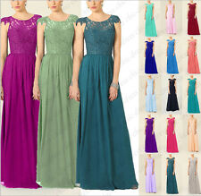 Floor Length Formal Evening dress Bridesmaid Dress Party Prom dress Size 6-18
