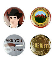 Sheriff Harry S. Truman Button Set! Twin Peaks inspired, Michael Ontkean, lynch