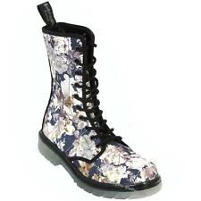 Boots And Braces Easy 10-Loch September Flowers Blumen Stiefel Schuhe Neu