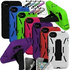 DUAL LAYER RUGGED IMPACT HYBRID HARD W, STAND CASE COVER APPLE IPHONE