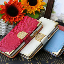 "For iPhone 6 4.7"" Plus 5.5"" Crocodile Bling PU Leather Wallet Flip Pouch Case"