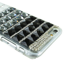 For iPhone 6 4.7 inch Crystal Bling 3D Diamond Rhinestone Hard Clear Case Cover