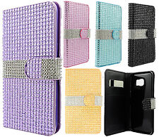 Samsung Galaxy S6 EDGE+ Plus Bling Diamond Wallet Case Flip Pouch +Screen Guard