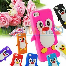 Apple iPhone 5 5S Cute 3D Penguin Style Soft Silicone Rubber GEL Case Cover