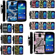 Armor Rugged Stand Holster Combo Clip Case For Samsung Galaxy S4 Active Future