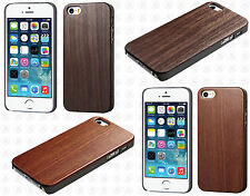 Apple iPhone 5 5S Hard Wood Back Protector Slim Phone Case Snap On Cover