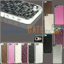 Slim Luxury Honeycomb Pattern Chrome Hard Case Cover For Apple iPhone 5 5th 5S
