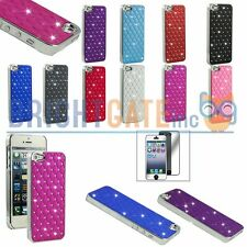 Mirror Films + Bling Glitter Chrome Hard Case Cover Skin For Apple iPhone 5 5S