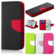 Luxury Leather Card Holder Flip Wallet Case Cover Pouch For Apple iPhone 5C