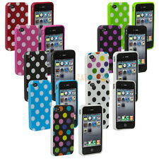 NEW Cute Polka DOT TPU Snap ON Hard Case Cover Skin For APPLE iPhone 4/4S